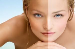 как изменить цвет кожи лица